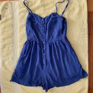 Urban outfitters blue romper dress size small